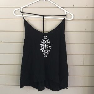 Black Aztec top